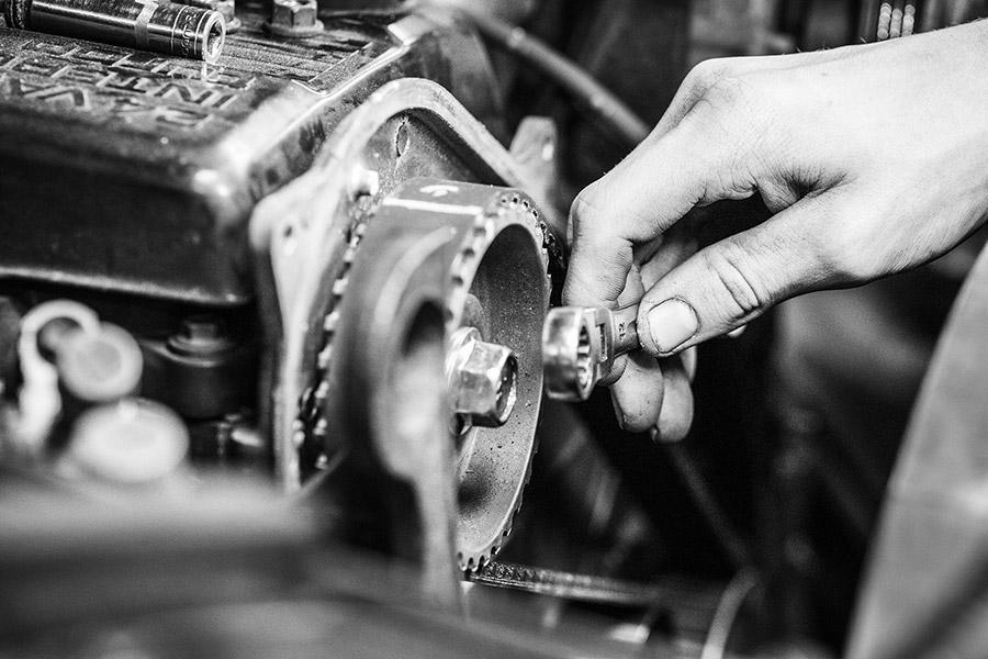 photos de l'atelier vintage du garage des corbières